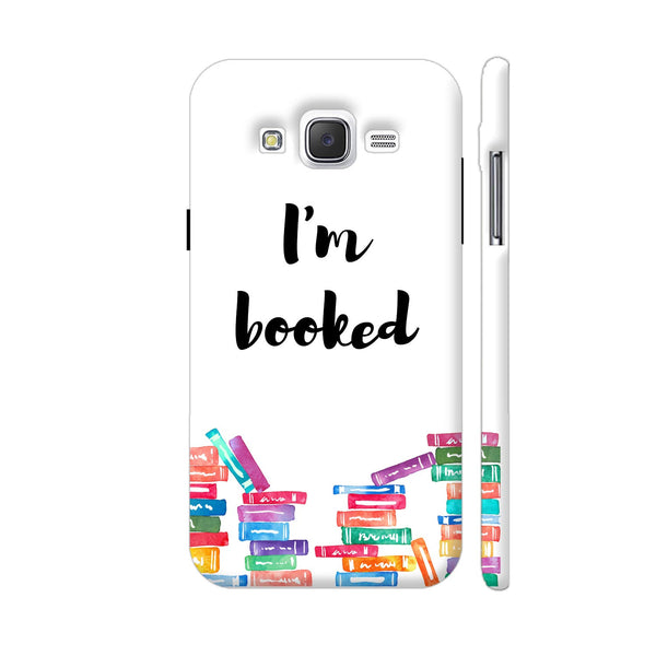 I am Booked On White Samsung Galaxy J5 Case