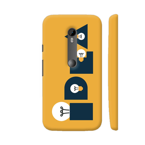 Idea Bulb Yellow Moto G3 Cover | Artist: Abhinav