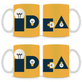 Idea Bulb Yellow Mug (Set of 4)