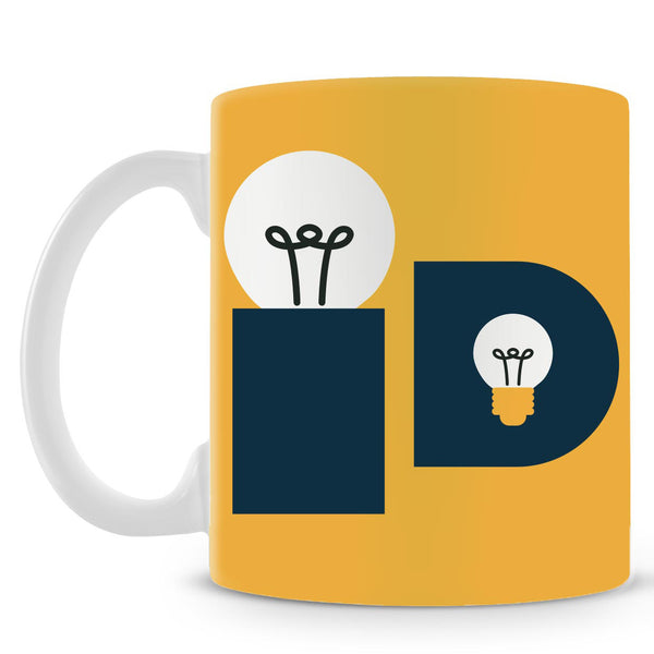 Idea Bulb Yellow Mug