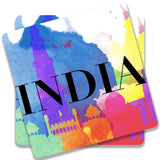 India Multicolor Monuments Coaster (Set of 2)
