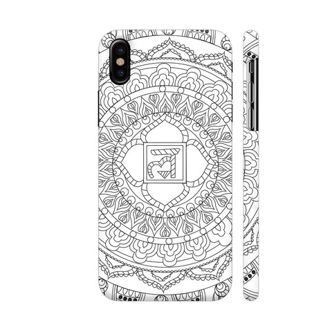 Infinite Freedom Chakra Mandala White iPhone X Cover | Artist: Srishti Vataa Healing Arts