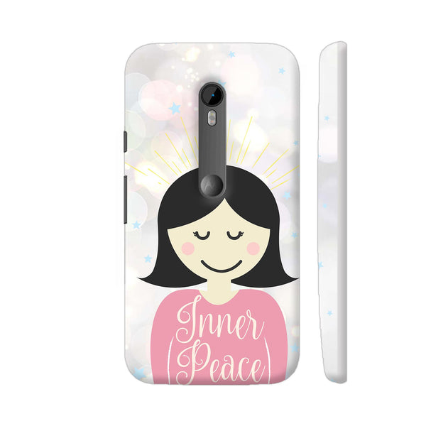 Inner Peace Happy Girl Moto G Turbo Cover | Artist: Dolly P