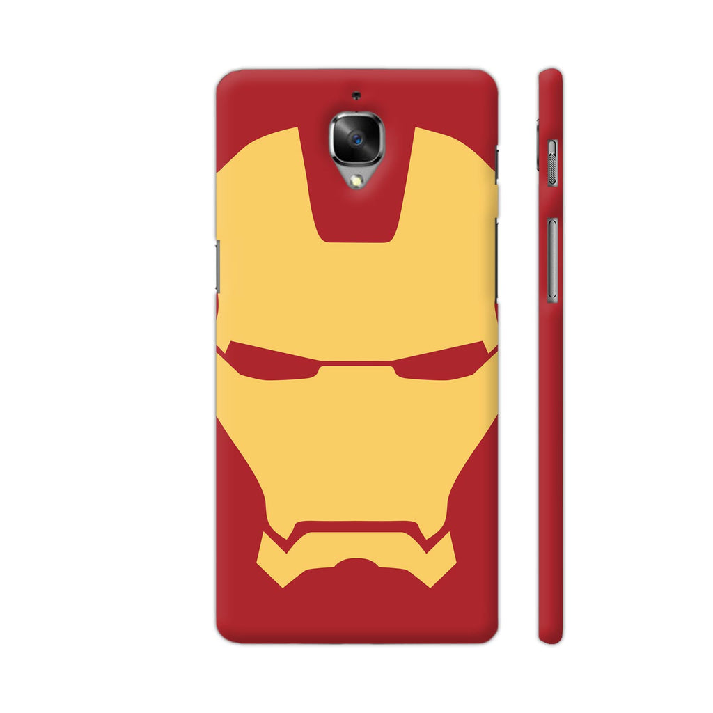 detailed look 48e68 441b3 Iron Man Yellow Face On Red OnePlus 3T Cover | Artist: Rahul Negi