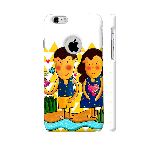 Jenny And Charlie Beach Love Apple iPhone 6 / 6s with hole for logo Case