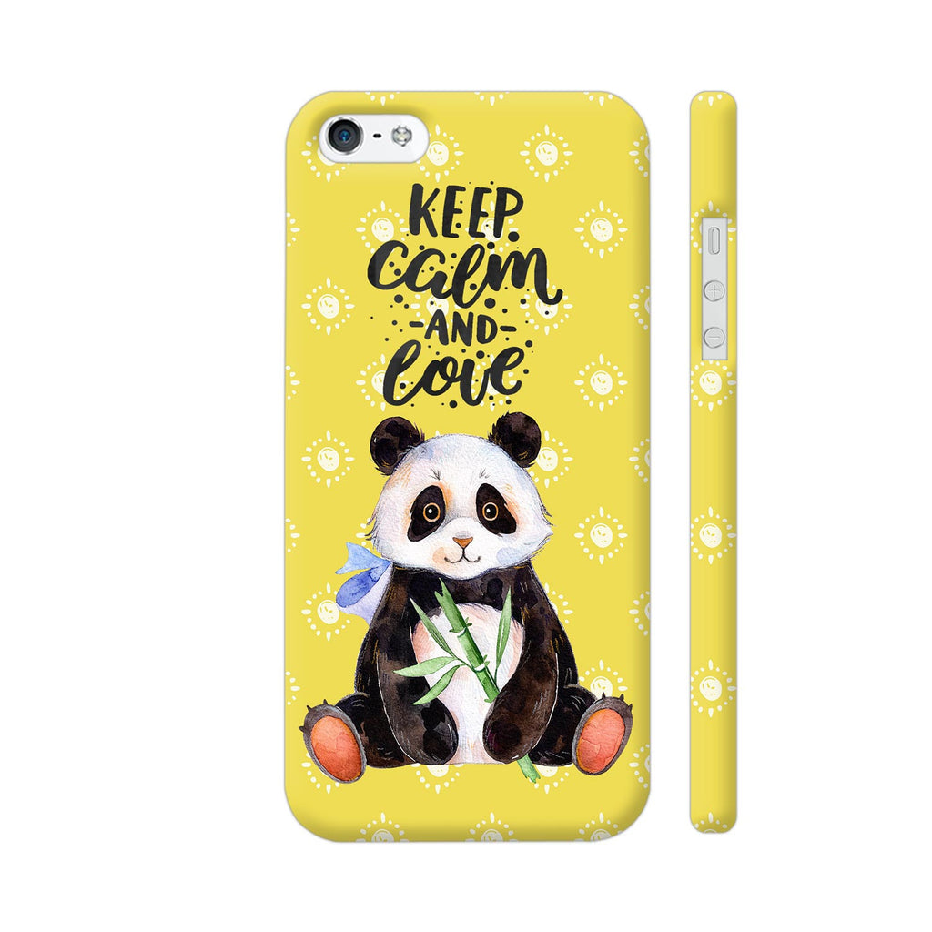 new products d9129 28bfb Keep Calm And Love Panda iPhone 5 / 5s Cover | Artist: UtART