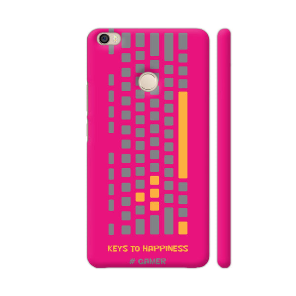Keys To Happiness On Pink Xiaomi Mi Max Cover | Artist: Ninad Gawde