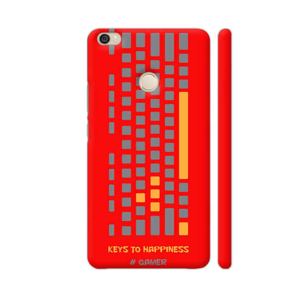 Keys To Happiness On Red Xiaomi Mi Max Cover | Artist: Ninad Gawde