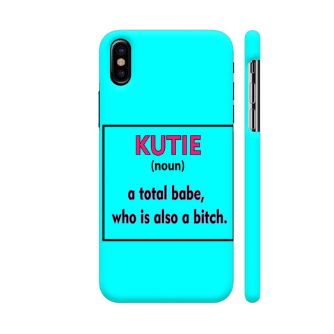 Kutie On Blue iPhone X Cover | Artist: Malls