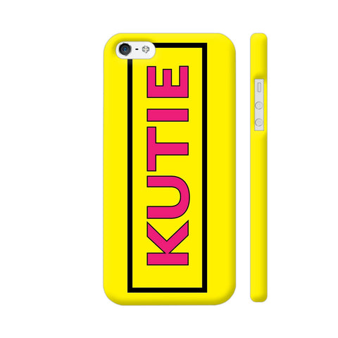 Kutie On Yellow iPhone SE Cover | Artist: Malls