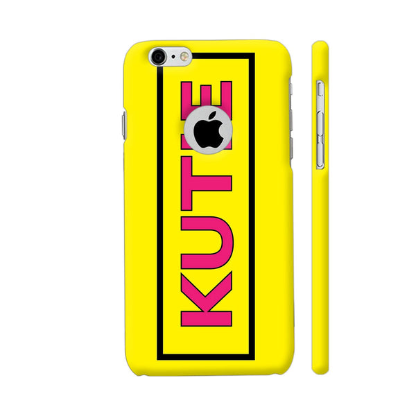 Kutie On Yellow iPhone 6 / 6s Logo Cut Cover | Artist: Malls