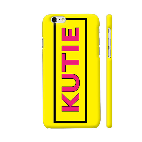 Kutie On Yellow iPhone 6 Plus / 6s Plus Cover | Artist: Malls
