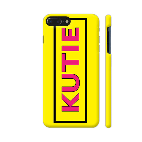 Kutie On Yellow iPhone 7 Plus Cover | Artist: Malls
