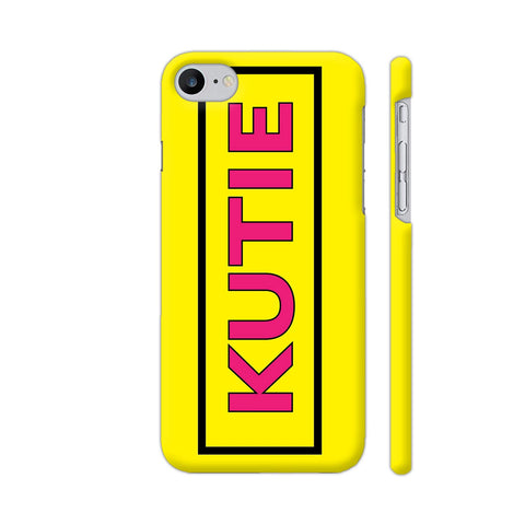 Kutie On Yellow iPhone 8 Cover | Artist: Malls