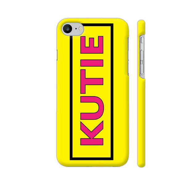 Kutie On Yellow iPhone 7 Cover | Artist: Malls