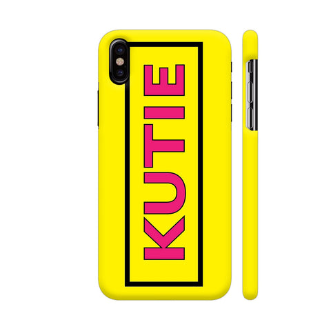 Kutie On Yellow iPhone X Cover | Artist: Malls