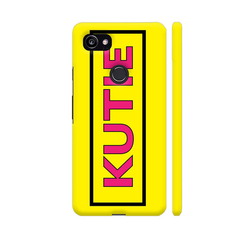 Kutie On Yellow Google Pixel 2 XL Cover | Artist: Malls