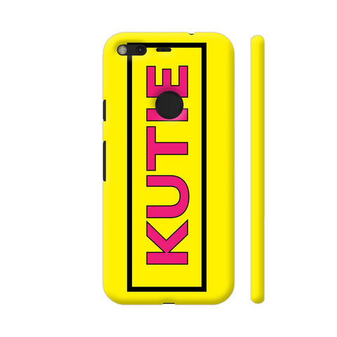 Kutie On Yellow Google Pixel XL Cover | Artist: Malls