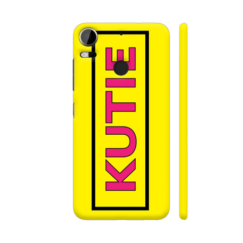 Kutie On Yellow HTC Desire 10 Pro Cover | Artist: Malls