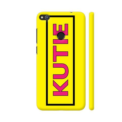 Kutie On Yellow Honor 8 Lite Cover | Artist: Malls