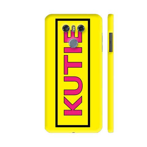 Kutie On Yellow LG G6 Cover | Artist: Malls