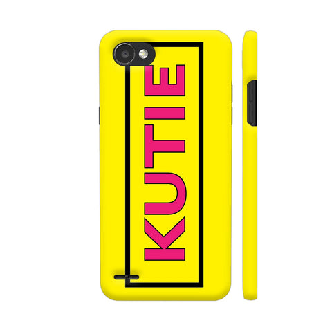 Kutie On Yellow LG Q6 Cover | Artist: Malls