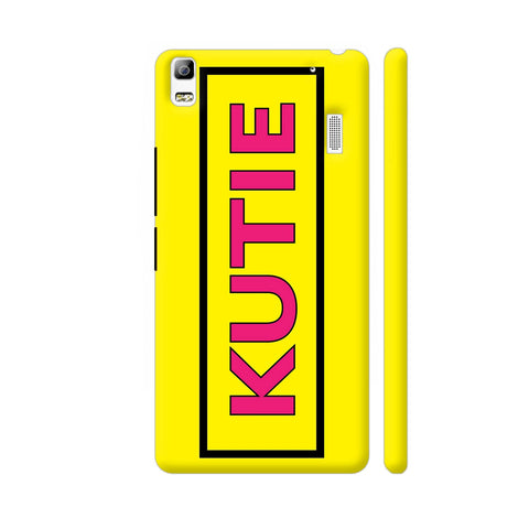 Kutie On Yellow Lenovo K3 Note Cover | Artist: Malls