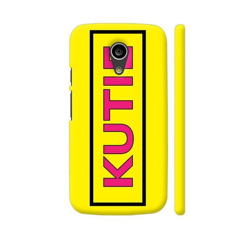 Kutie On Yellow Moto G2 Cover | Artist: Malls