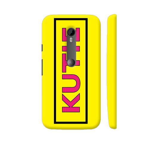 Kutie On Yellow Moto G Turbo Cover | Artist: Malls