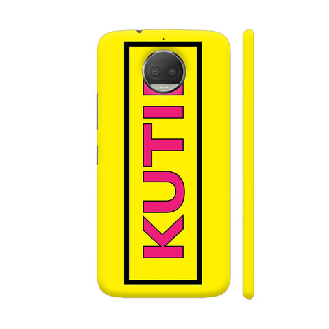 Kutie On Yellow Moto G5S Plus Cover | Artist: Malls