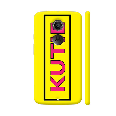 Kutie On Yellow Moto X2 Cover | Artist: Malls