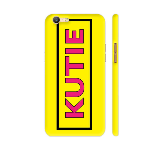 Kutie On Yellow Oppo A57 Cover | Artist: Malls