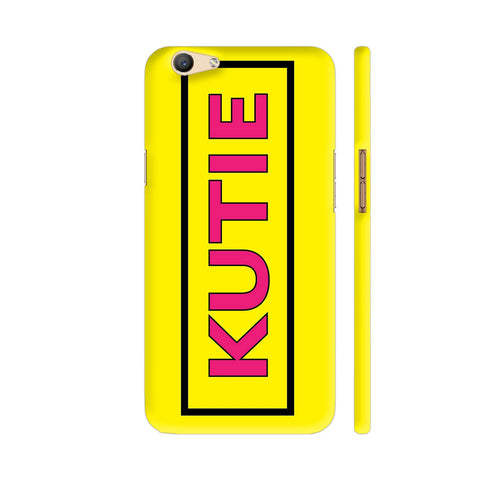 Kutie On Yellow Oppo F1s Cover | Artist: Malls