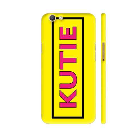 Kutie On Yellow Oppo F3 Cover | Artist: Malls