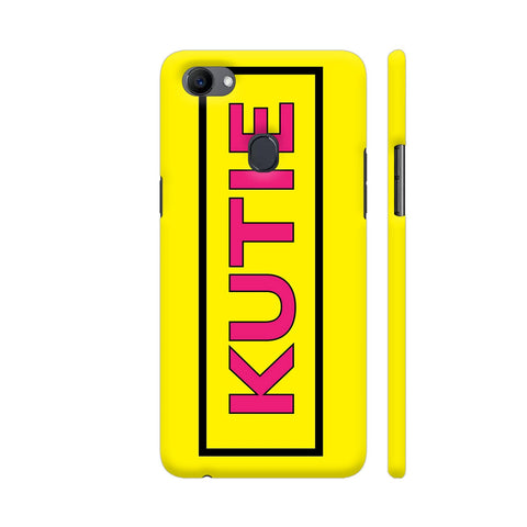 Kutie On Yellow Oppo F7 Cover | Artist: Malls