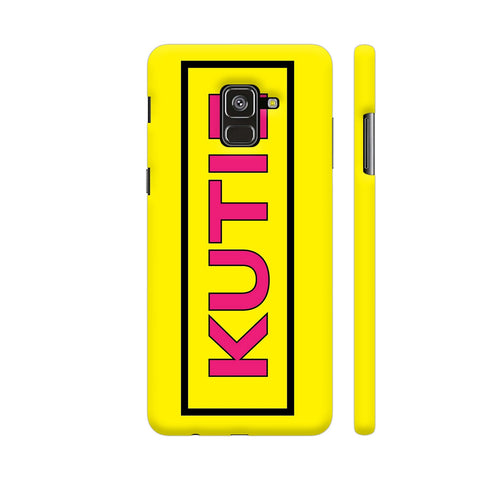 Kutie On Yellow Samsung A8 Cover | Artist: Malls