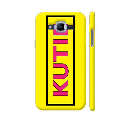 Kutie On Yellow Samsung J2 Pro Cover | Artist: Malls