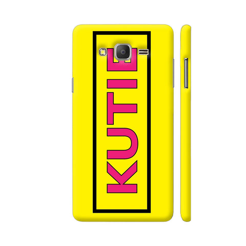 Kutie On Yellow Samsung J7 Nxt Cover | Artist: Malls