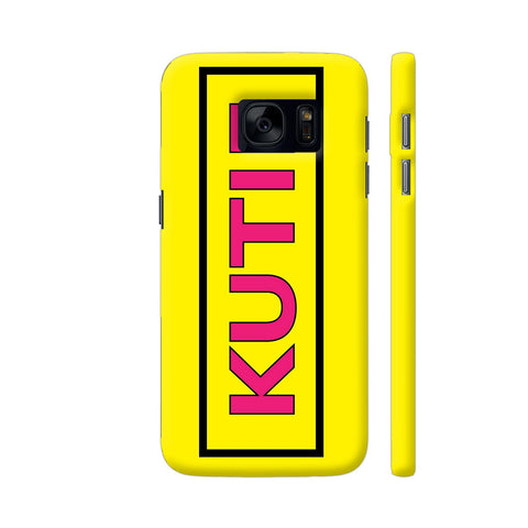 Kutie On Yellow Samsung S7 Cover | Artist: Malls