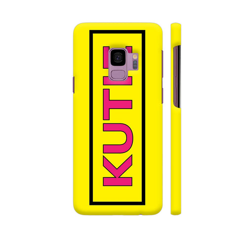Kutie On Yellow Samsung S9 Cover | Artist: Malls