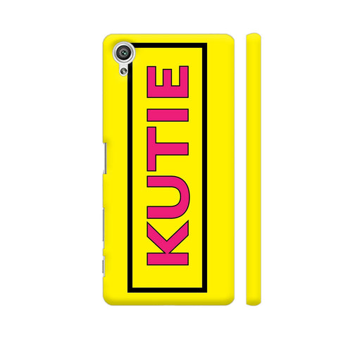 Kutie On Yellow Sony Xperia X Cover | Artist: Malls