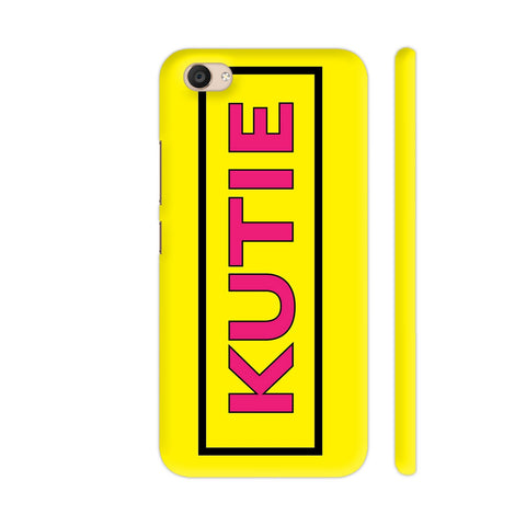 Kutie On Yellow Vivo V5 Plus Cover | Artist: Malls