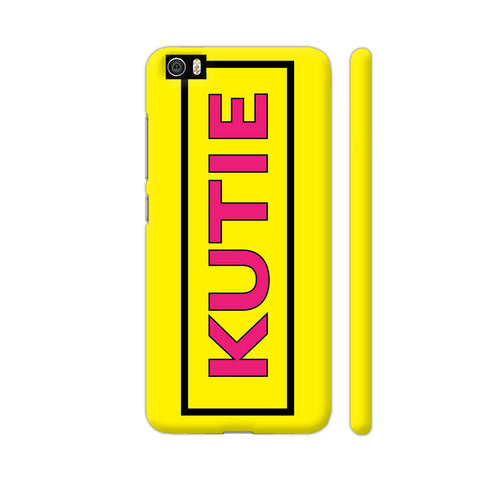 Kutie On Yellow Xiaomi Mi 5 Cover | Artist: Malls