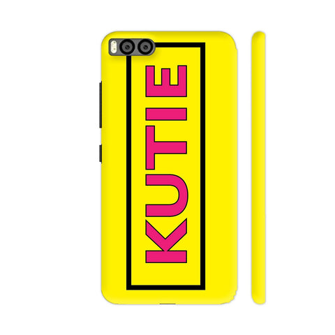 Kutie On Yellow Xiaomi Mi 6 Cover | Artist: Malls