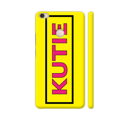 Kutie On Yellow Xiaomi Mi Max Cover | Artist: Malls
