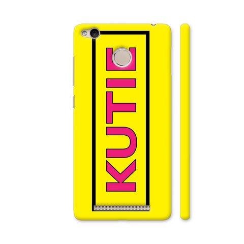 Kutie On Yellow Redmi 3S Prime Cover | Artist: Malls