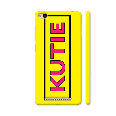 Kutie On Yellow Redmi 4A Cover | Artist: Malls