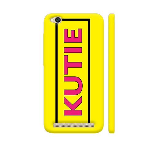 Kutie On Yellow Redmi 5A Cover | Artist: Malls