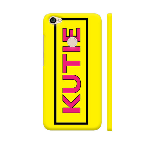 Kutie On Yellow Redmi Y1 Cover | Artist: Malls