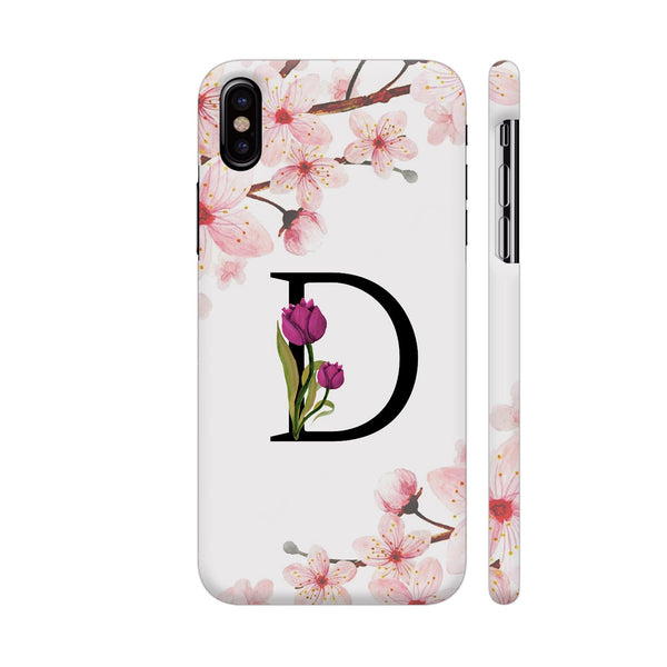Letter D Watercolor iPhone X Cover | Artist: Kiran Maurya